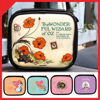 OZ Dorothy toto Cream COSMETIC POUCH makeup bag case travel organizer