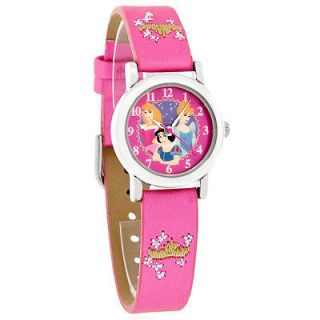 Disney Princess Cinderella Beauty Snow White Pink Strap Quartz Watch