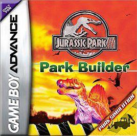 Jurassic Park III Park Builder Nintendo Game Boy Advance, 2001