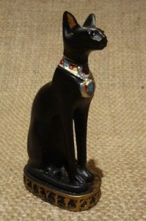 EGYPTIAN BASTET CAT STATUE. EGYPT GODDESS BAST FIGURINE