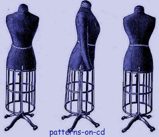 Vintage dressmaker dress form corset sewing lessons patterns on cd