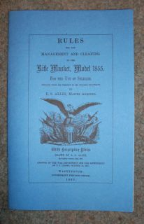 reproduction civil war era 1855 springfield booklet