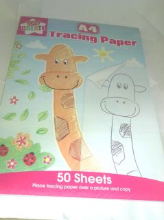 50 sheet tracing paper pad from united kingdom time left