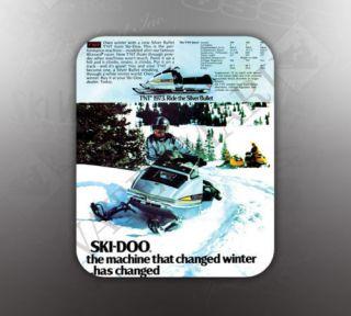 vintage ski doo 1973 silver bullet mouse pad like nos