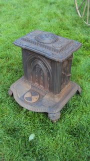 ANTIQUE 1850s No. 3 REVERE WOOD CAST IRON PARLOR STOVE NORTHS HARRISON
