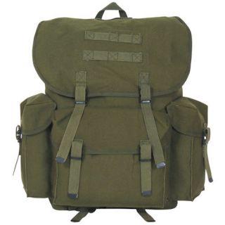 OLIVE DRAB CANVAS NATO STYLE MEDIUM RUCKSACK BACKPACK   Bag, 16 x 10 x