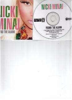 NICKY MINAJ POUND THE ALARM RARE OFFICIAL NEW U.S 5 REMIX CD PROMO