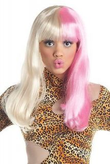 Pink White Nicki Minaj Costume Nicky Adult Women Long Straight Super