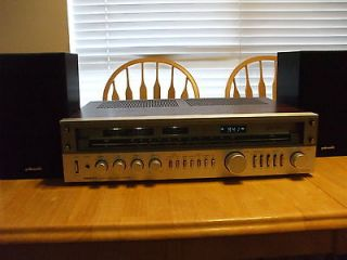 ONKYO TX 5000 AM/FM AMP TUNER W/ POLK AUDIO R1 SPEAKERS