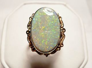 Brilliant Victorian 14K 6.68 Carat Opal Ring INDEPENDENTLY Appraised