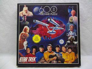 Star Trek 600 Pc F.X. Schmid Jigsaw Puzzle Kirk Spock Shatner Nimoy