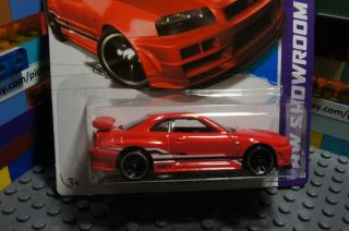 Hot Wheels Red NISSAN SKYLINE GT R (R34) Diecast Vehicle   HW Showroom