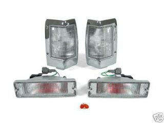 1990 1997 NISSAN HARDBODY PICKUP DEPO CLEAR CORNER LIGHTS + BUMPER