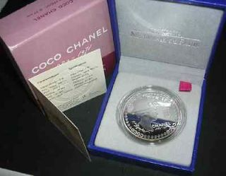 Proof Coin France 2008 5 Euros COCO CHANEL Monnaie de Paris COA Box