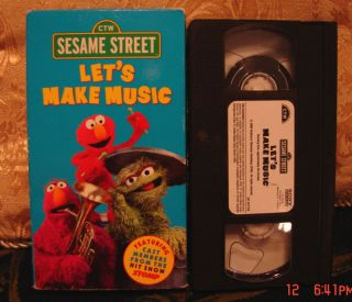 Sesame Street CTW Lets Make Music Vhs EDUCATIONAL Video UNLIMITED