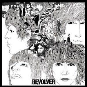 The Beatles Revolver album cover square small vinyl sticker PS6895