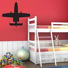 0270   Giant Fighter Jet / Plane Kids Bedroom Vinyl Wall Art   Sticker