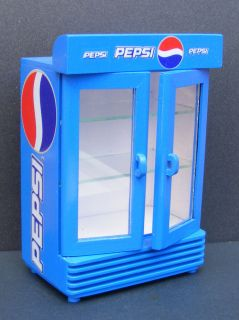 12 Scale Two Door Empty Pepsi Cooler Dolls House Miniature Shop
