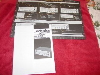 1980 Technics by Panasonic FM/AM Stereo Receiver SA 200 Operating
