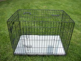 Extra Large 48 Dog Crate Cage Kennel 2 Door Metal Pan Divider Collie