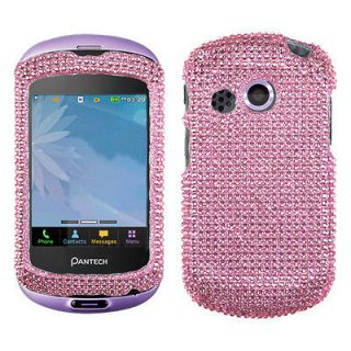 AT&T PANTECH P6020(Swift) Best Phone Case Cover Bling Rhinestone Pink