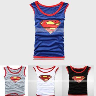 SUPERMAN MENS VEST SINGLET UNDERWEAR TANK TOP T SHIRT 3 size 4 color #