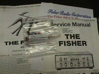 fisher 400 cx 400 cx 2 tube preamp restoration kit