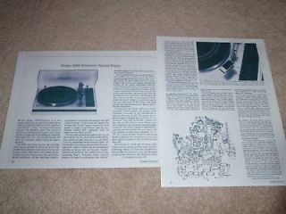 philips 209s turntable review 2 pgs very rare test time