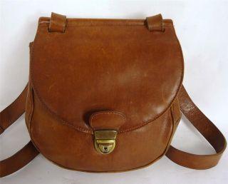 vintage picard brown leather satchel shoulder bag handbag time left
