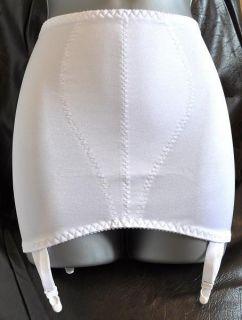 sexy white open bottom suspender girdle obg burlesque