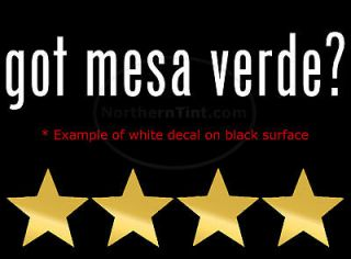 got mesa verde vinyl wall art truck car decal sticker