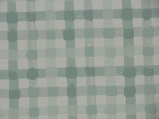 BRUNSCHWIG & FILS GREEN CHECKED WALLPAPER $45 PER TRIPLE ROLL