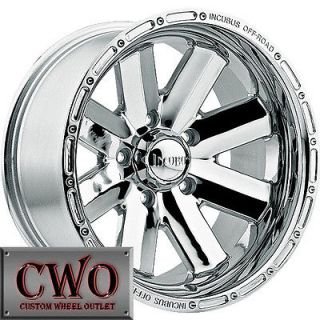 20 Chrome Incubus Recoil Wheels Rims 8x170 8 Lug Ford F250 F350 Super