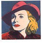 Andy Warhol Art Postcard Illustration Young Man Profile