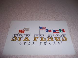1962 SIX FLAGS over TEXAS AMUSEMENT PARK SIGN POSTCARD POSTCARD