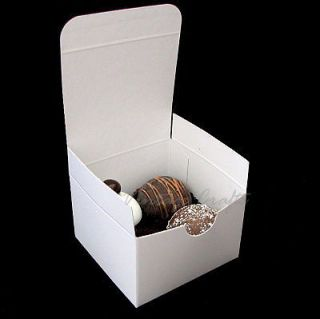 White Wedding Party Favor Chocolate Candy Gift Boxes 3x3x2 100 bxs