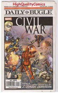 CIVIL WAR / DAILY BUGLE, NM , Promo, Iron Man vs Captain America, 2006