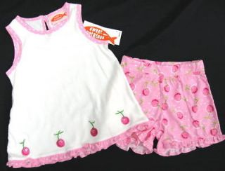 NWT Girls 2 Pc. Sweet Potatoes CHERRY TOP SHORTS OUTFIT Szs. 5 & 6