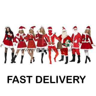 Santa Costume Male Female Christmas Costumes Xmas Father Christmas
