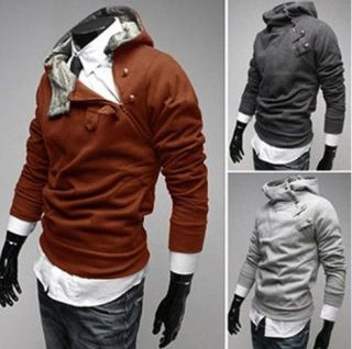 Mens New Long Sleeve Casual Pullover Hoodie Hooded Sweatshirt Coat