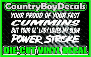 Lady Loves My POWERSTROKE * Vinyl Decal Sticker * Diesel FORD Truck