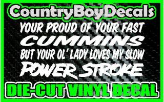 Lady Loves My POWERSTROKE * Vinyl Decal Sticker * Diesel FORD Truck