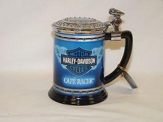 FRANKLIN MINT   Harley Davidson Cafe Racer Porcelain Tankard B11G417