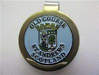 golf gift st andrews old course cap clip ball marker