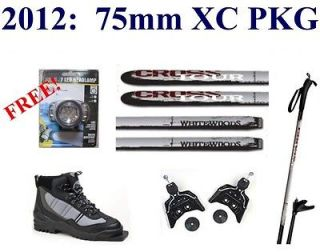 NEW 2012 2013 CROSSTOUR cross country 75mm SKIS/BINDINGS/​BOOTS