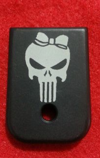 PUNISHER GIRL FITS GLOCK MAGAZINE PLATE 9MM 40CAL MODEL 17 19 27 ECT