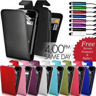 leather flip case cover screen protector stylus for samsung galaxy ace