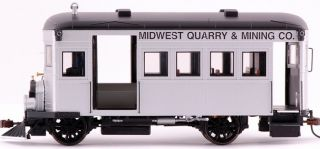 On30 Scale Train Rail Bus DCC Equipped Midwest Quarry & Mining 28461