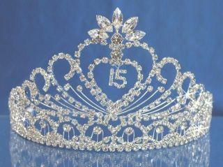 Quinceanera 15 Birthday Tiara Crystal Princess Party Prom 1337FA
