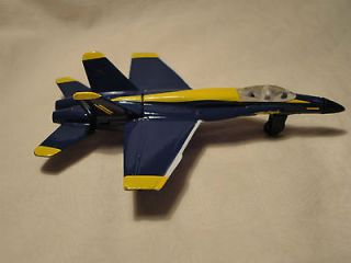 blue angels f 18 hornet diecast plane in good condition  7